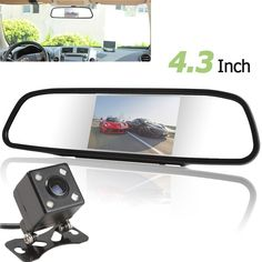 Discount! US $26.83  Univeral 4.3 Inch TFT LCD Auto Car Rear View Mirror Monitor Parking + Night Vision Car Rearview Reverse Camera 170 Wide Angle  #Univeral #Inch #Auto #Rear #View #Mirror #Monitor #Parking #Night #Vision #Rearview #Reverse #Camera #Wide #Angle  #CyberMonday