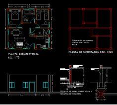 Planos de Casa de adobe en DWG AUTOCAD, Adobe - Sistemas ...