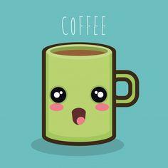 Caneca ícone de café dos desenhos animad...   Premium Vector #Freepik #vector #cafe Tableware, Maps, Vector Graphics, Mugs, Vectors, Cartoons, Pictures, Group, Dinnerware