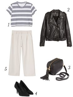 THECLASSYDRESSY.COM - February Favourites #fashion #fashionideas #outfits #outfitinspiration #classy #whattowear #howtowear #culottes #leather #stripes