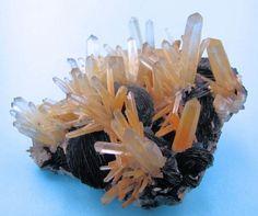 Quartz, Hematite - Lungchuan, Heyuan, Guangdong, China.