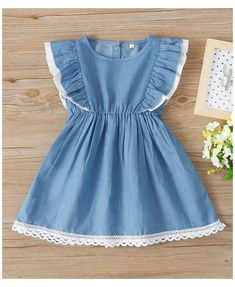 Cute Baby Dresses, Stylish Dresses For Girls, Toddler Girl Dresses, Girls Dresses, Cute Simple Dresses, Little Girl Summer Dresses, Stylish Little Girls, Frilly Dresses, Baby Frock Pattern