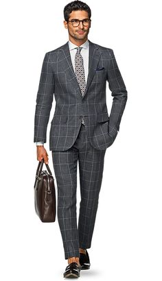 Suit Grey Check Lazio P5142i | Suitsupply Online Store