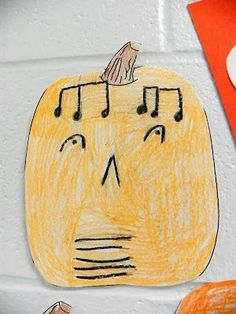 Jazzy Jack-o-Lanterns  Such a fun idea! This could be left with a sub or planned during a class where you listening to fall themed or Halloween music.  LOVE this to display for parent teacher conferences too!