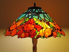 This Tiffany lamp reminds me of the seasons and all the different colours