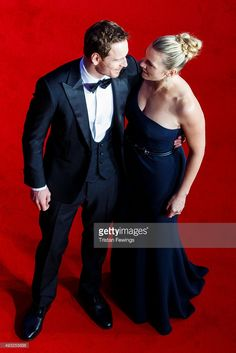 Michael Fassbender and Kate Winslet attend the gala premiere of 'Steve Jobs' on the closing night of the BFI London Film Festival at Odeon Leicester Square on October 18, 2015 in London, England.