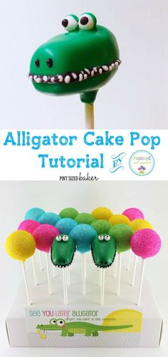 I've got to make these adorable Alligator Cake Pops for my little boy's next party! Then I'll make them for my Gator fan during football season!