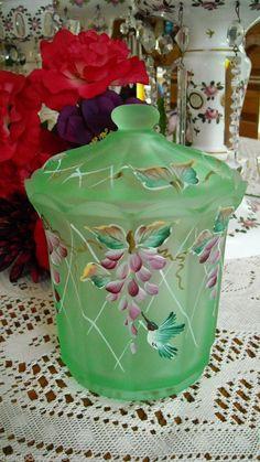 FENTON ART GLASS HP 2003 JON SAFFELL DESIGNER BOX CANDY DISH  #425 LE OF 1950
