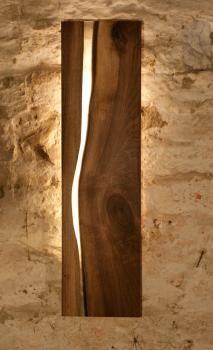 "Alvaro Wohnen UG - Wandlampe ""Snake River No.64"" Diy Interior Projects, Floating Table, Epoxy Resin Wood, Jewelry Mirror, Mood Light, Wood Clocks, Wooden Lamp, Led Lampe, Lamp Design"