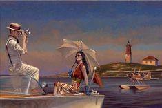 Time to Take Our Time - Peregrine Heathcote Realistic Paintings, Paintings I Love, Beautiful Paintings, Art Paintings, Retro Art, Vintage Art, Vintage Modern, Illustrations, Illustration Art