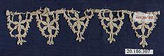 Date: 16th century Culture: Italian (Genoa) Medium: Bobbin lace Dimensions: H. 1 1/4 x W. 6 inches (3.2 x 15.2 cm)
