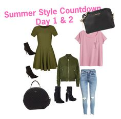 """""""Summer Style Countdown Day 1 & 2"""" by fredericaehimen ❤ liked on Polyvore featuring ALDO, Ally Fashion, GUESS, H&M, Calvin Klein and Topshop"""