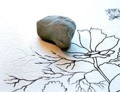 Draw Ink Erase When creating a pen & ink watercolor painting, I like to draw the image first lightly in pencil on my watercolor paper. Th...