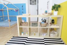 Some Montessori Spaces You Will Love! (how we montessori) Classroom Layout, Maria Montessori, Room Tour, Playroom, Shelving, Kids Rugs, Diy Crafts, Children, Inspiration