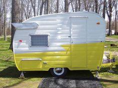 Kelle's 1961 Shasta Compact trailer.