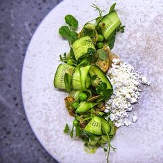 """85 Likes, 2 Comments - Private Chefs Club (@privatechefsclub) on Instagram: """"Cucumber and feta salad.. Check out our page and follow for daily inspiring food art.. Cheers …"""""""