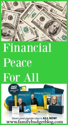 A Balanced Life For Busy Families Hey look at this amazing financial course called Dave Ramsey's Financial Peace University where you can become a lifelong student of finance earning your way to savvy money expert status in no time by following these steps...