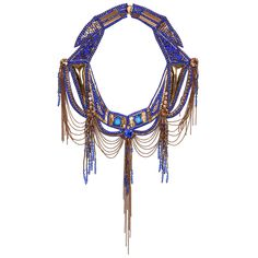 Sapphire & Gold Delphinia Necklace on AHAlife