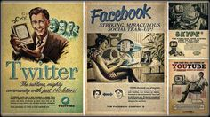 vintage, Twitter, Facebook HD Wallpaper Desktop Background