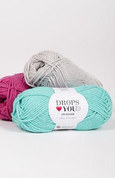DROPS ♥ You #8 je klasická bavlnená priadza, v pestrých odtieňoch. Je ideálnym materiálom na tvorbu bytových doplnkov, ako sú deky, vankúše a podobne... Taktiež sa hodí na tvorbu letných odevov, doplnkov a hačkovaných hračiek. Je perfektná pre modely