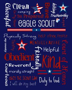 Eagle Scout Subway Art - Free Printable. I couldn't find subway art I liked for my son's COH so I made this myself. Enjoy! -Pyper