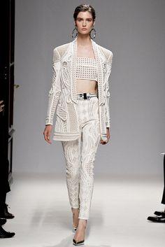 Balmain Summer Spring 2013 - White tuxedo with maxi jacket