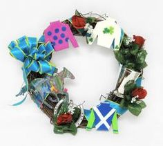 Derby Wreath with Ribbon