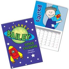 Personalised Space Calendar  from Personalised Gifts Shop - ONLY £12.99