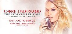 Carrie Underwood - October 22, 2016 - John Paul Jones Arena (JPJ Arena)