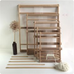 Weaving Loom XL with heddle stand optional and by funemstudio