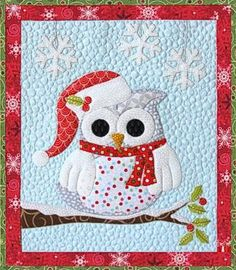 Owl Be Home for Christmas Laser Cut Applique Kit