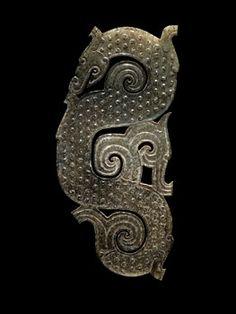 China. Dragon Plaque Pendant, Warring States Period, 475-221 BCE. Jade