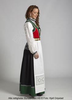 Voss Festbunad | Bunadrosen AS - Vi kan Bunad Voss Norway, Waist Skirt, High Waisted Skirt, Vikings, Ethnic, Traditional, Costumes, Skirts, Clothing