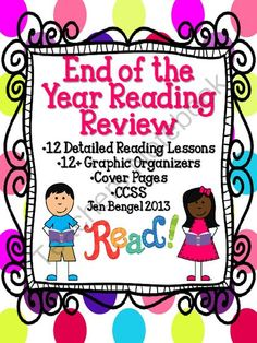 End of the Year Reading Review 12 Detailed Lessons for Grades 2-6 from Jen Bengel on TeachersNotebook.com -  (51 pages)