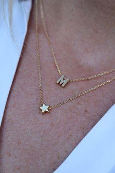 Collar estrella de oro...Gargantilla de por brinandbell en Etsy