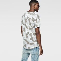 G-Star RAW   Men   T-shirts   Moiric Relaxed T-shirt , White