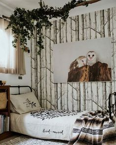 Birch tree wallpaper. Room by Sophie Vine