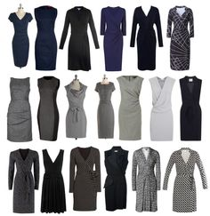 minimalist wardrobe; like the dresses