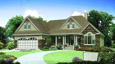 Home Plan HOMEPW75786 - 1668 Square Foot, 3 Bedroom 2 Bathroom Ranch Home with 2 Garage Bays | Homeplans.com