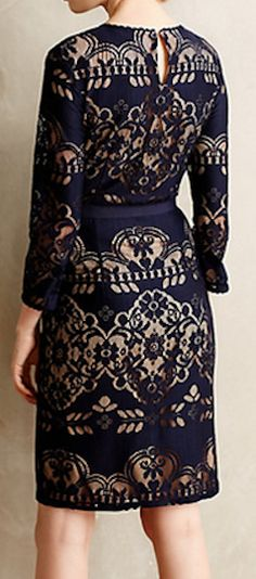 Stunning lace dress - perfect for holiday parties! #anthrofave http://rstyle.me/n/rv68hnyg6