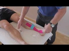 ▶ How to treat Shin Splints (Medial tibial stress Syndrome / Periostitis) with Kinesiology tape - YouTube