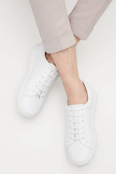 COS image 14 of Slim-sole lace-up sneakers in White Modern Wardrobe, My Wardrobe, Cos Stores, Latest Clothes For Men, Mens Essentials, Adidas Stan Smith, How To Look Better, Adidas Sneakers, Lace Up