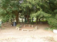 A Forest school area at Lupton House, near Brixham.