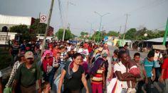 Migrantes y Defensores caminaran rumbo a Palenque, Chiapas ante prohibición de subirse al tren
