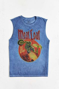 f11203af77ef19 TRUNK LTD Meat Loaf Velvet Washed Muscle Tee - Urban Outfitters Meat Loaf