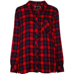 Rails Hunter Plaid Shirt, Scarlet/Indigo (275 AUD) ❤ liked on Polyvore featuring tops, shirts, red plaid top, extra long sleeve shirts, long-sleeve shirt, red plaid shirt and lightweight long sleeve shirt