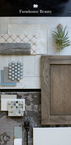 Let muted patterns, cloudy-sky hues, and rustic, reclaimed woods inspire your farmhouse kitchen renovation. [Featured Design: Kirkstead™]