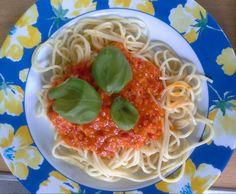 Rezept Tomaten - Avocado - Sauce mit Spaghetti von ThillThermo - Rezept der Kategorie Hauptgerichte mit Gemüse