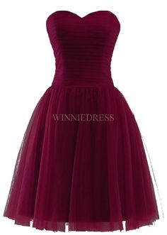 Shop discount Burgundy Short Sweetheart A-Line Knee Length Zipper Bridesmaid Dress Burgundy Bridesmaid, Bridesmaid Dresses, Bridal Gowns, Zipper, Formal Dresses, Wedding, Outfits, Shopping