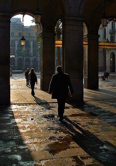 Contrallum   Arcades de la Plaça Reial. Barcelona (Catalunya - Catalonia)